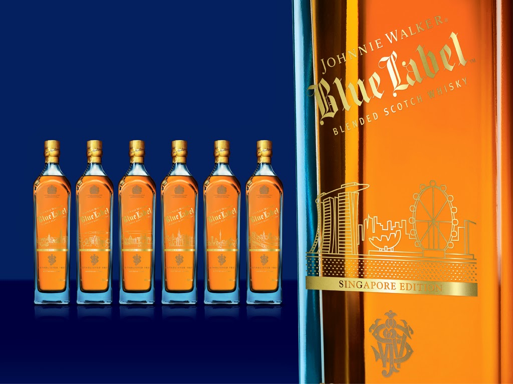 johnnie walker limited edition  cities  on packaging of