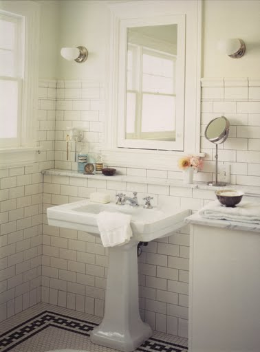 The Overwhelmed Home Renovator: Bathroom Remodel: Subway Tile Ideas
