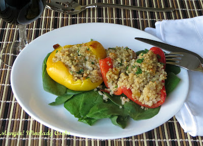 Winelady Cooks: Quinoa Stuffed Peppers #MeatlessMonday
