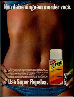 propaganda Repelex - 1977.  os anos 70; propaganda na década de 70; Brazil in the 70s, história anos 70; Oswaldo Hernandez;