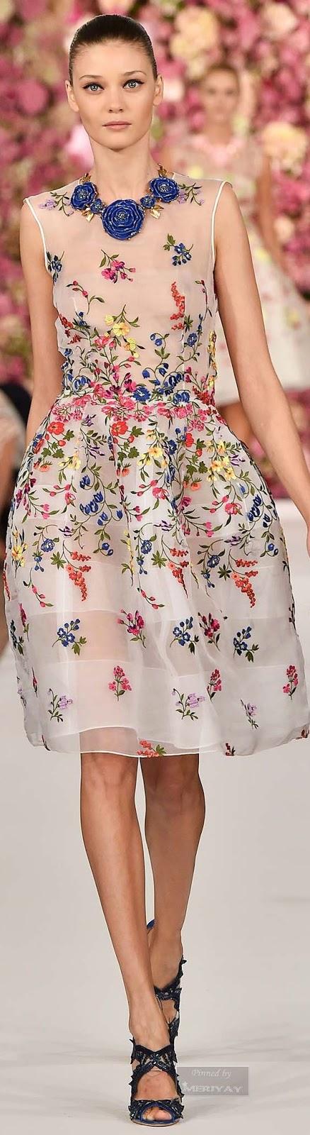 Oscar de la Renta, embellished dresses, Spring dresses