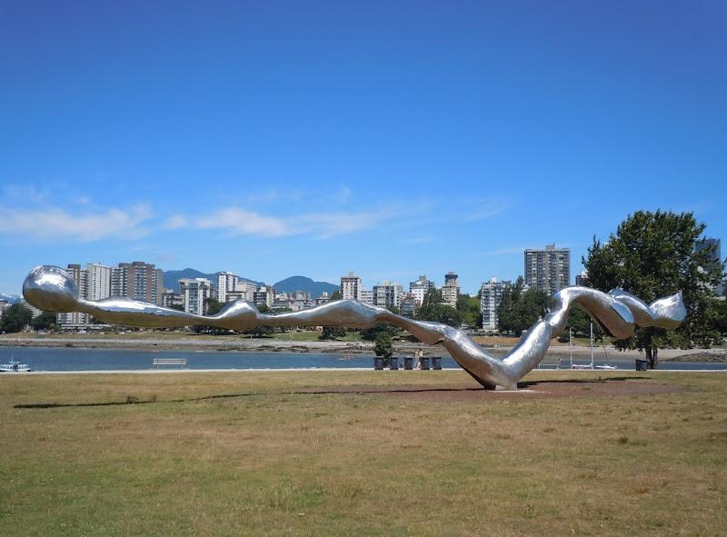 Freezing Water sculpture Vanier Park Vancouver