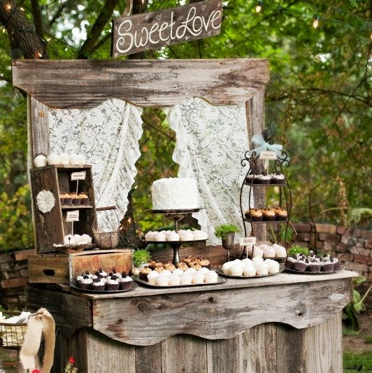 HD wallpapers rustic wedding cake table ideas