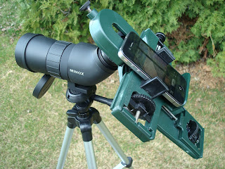 Spotting Scope Adapter on MINOX