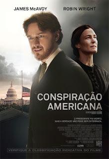 """Pôster brasileiro do filme """"Conspiração Americana"""""""
