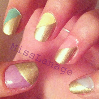 pastel colours nail art