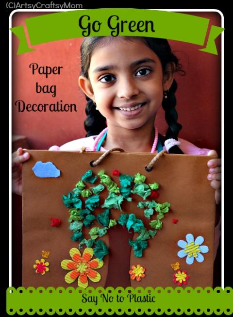 Go Green Avoid Plastic Craft Class Artsy Craftsy Mom