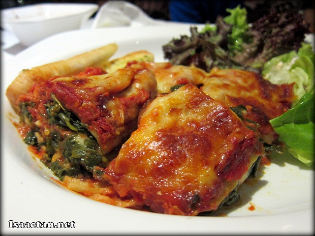 Aubergine-Spinach Lasagna - RM17.50