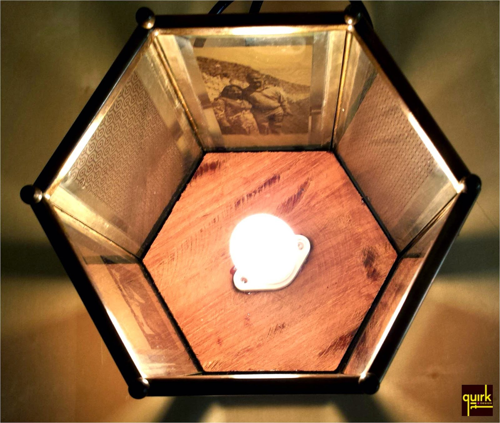 Quirk It Design__Brass_glass_picture-photo_hexagon lamp_DIY_Quirky_Home_Decor