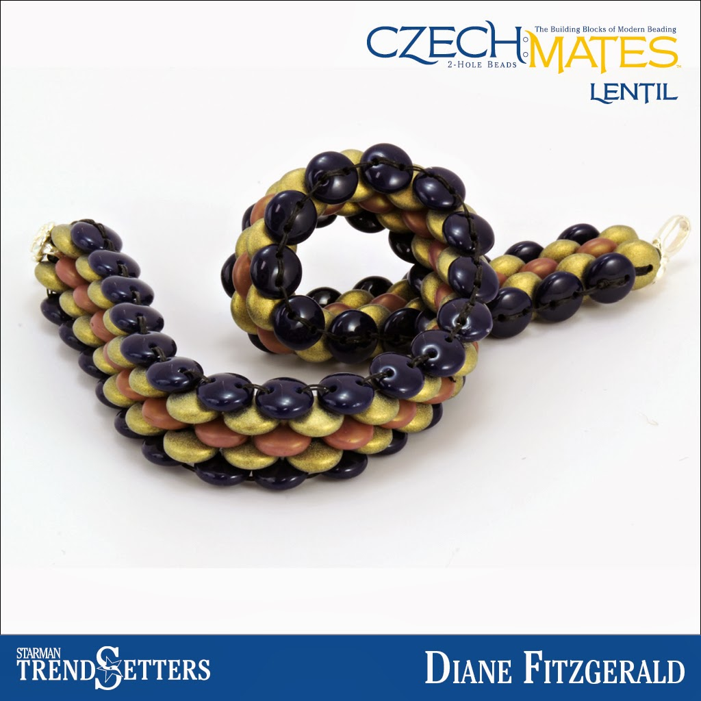 CzechMates Lentil bracelet by Starman TrendSetter Diane Fitzgerald