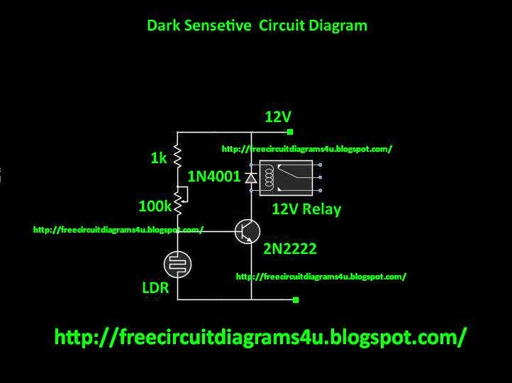 FREE CIRCUIT DIAGRAMS 4U: Simple Dark Activated Switch