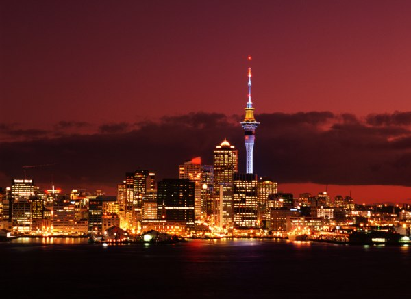 The view of Auckland city at night. Photo credit: Thinkstock