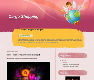 Cargo Shopping Blogger Template