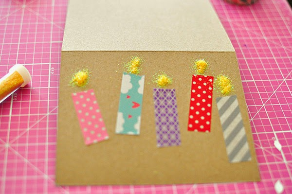 The cheese thief diy washi tape card ideas for What can you do with washi tape