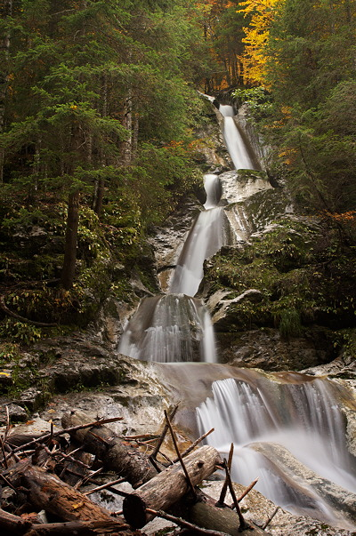 Diomaz waterfall in autumn