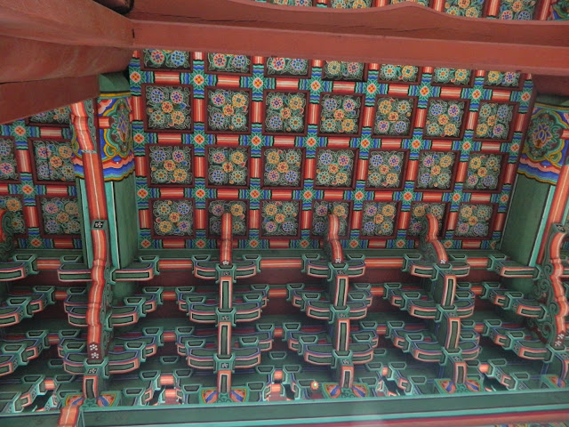 The beautiful patterns on the gate of the Changgyeonggung palace in Seoul