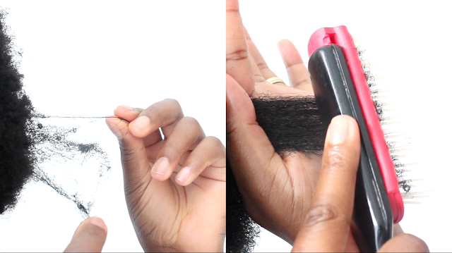 how to cur 4c haircare knotted detangled