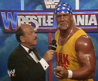 WWF / WWE - Wrestlemania 7:  Hulk Hogan talks to Mean Gene about his upcoming title match against Sgt. Slaughter