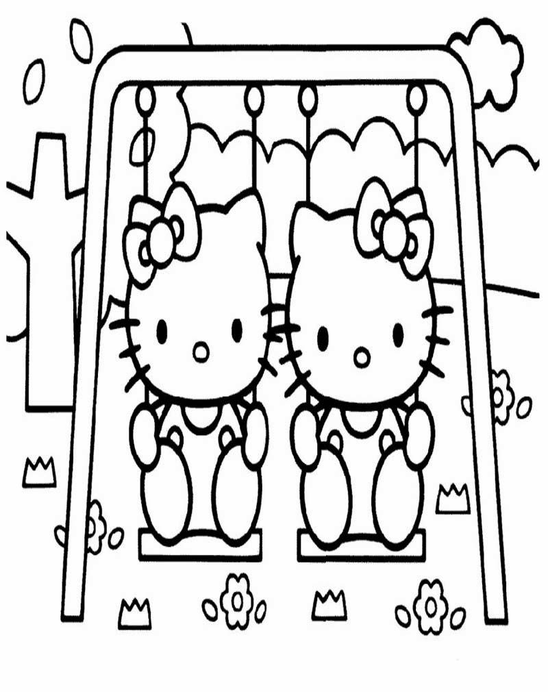 mewarnai hello kitty gambar mewarnai review ebooks