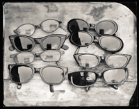 ron cowie, rolleiflex, lisa's glasses, sunglasses, wet plate, platinum, panopticon gallery