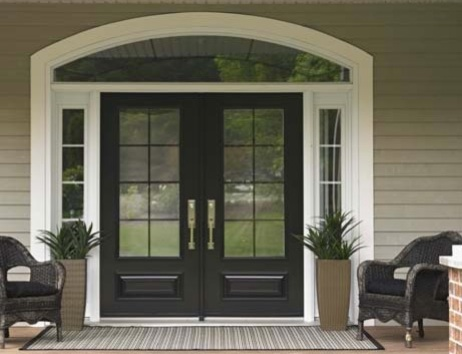 Burlington bungalow front door for Houses with double front doors