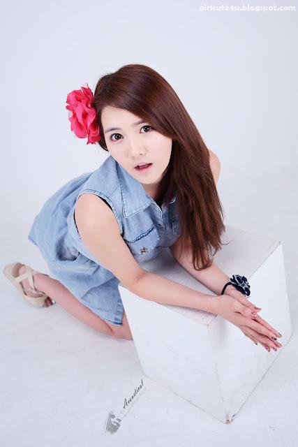 11 Han-Ga-Eun-Denim-Shirt-01-very cute asian girl-girlcute4u.blogspot.com