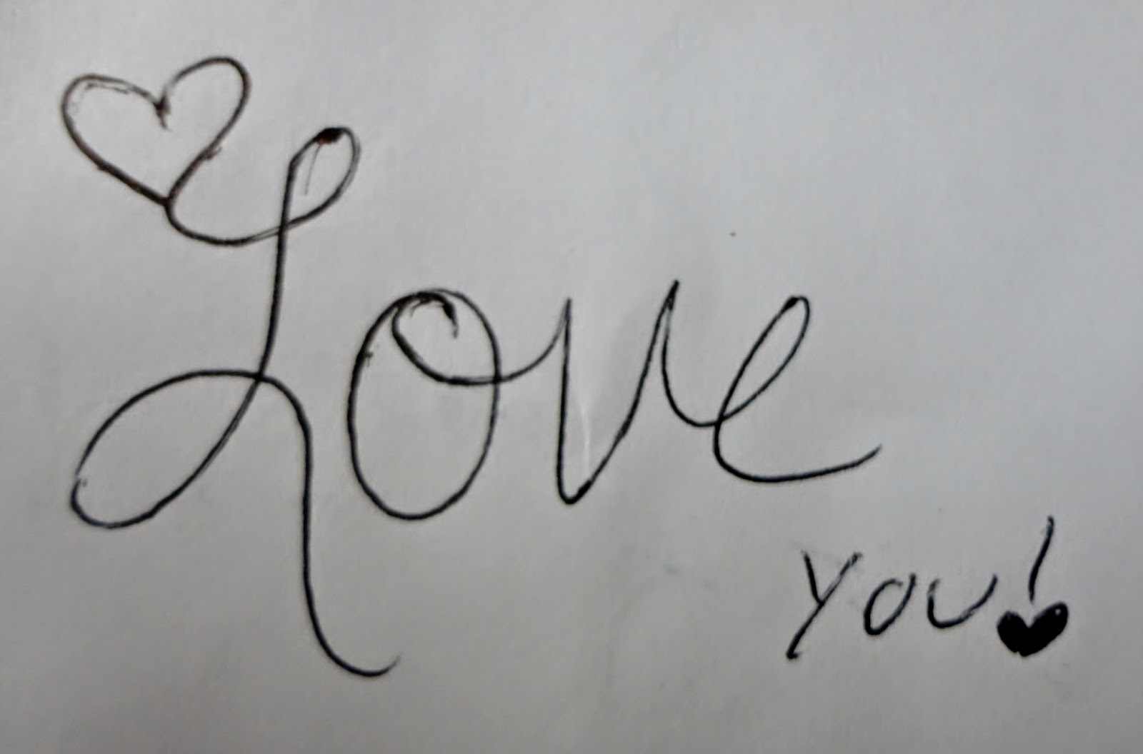 how to draw love in cursive