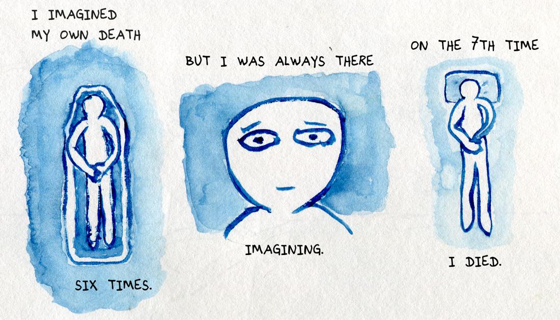 Imagining own death
