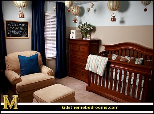 Decorating theme bedrooms maries manor hot air balloon for Baby room decoration boy