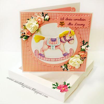 scrapbooking kartka dla dziewczynki urodziny card making kartki okolicznościowe barbara wójcik