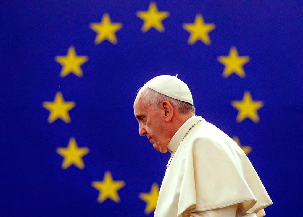 Ferenc pápa, Strasbourg, Európai Parlament, Európa Tanács, Vatikán, Európai Unió,