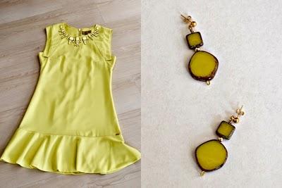 geel ananas jurkje
