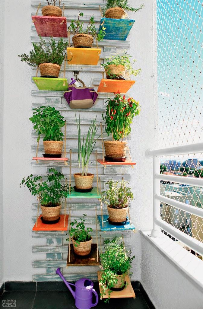jardim vertical sacada:Casa – Decoração – Reciclados: Espaços Verdes em Casas ou Apê!