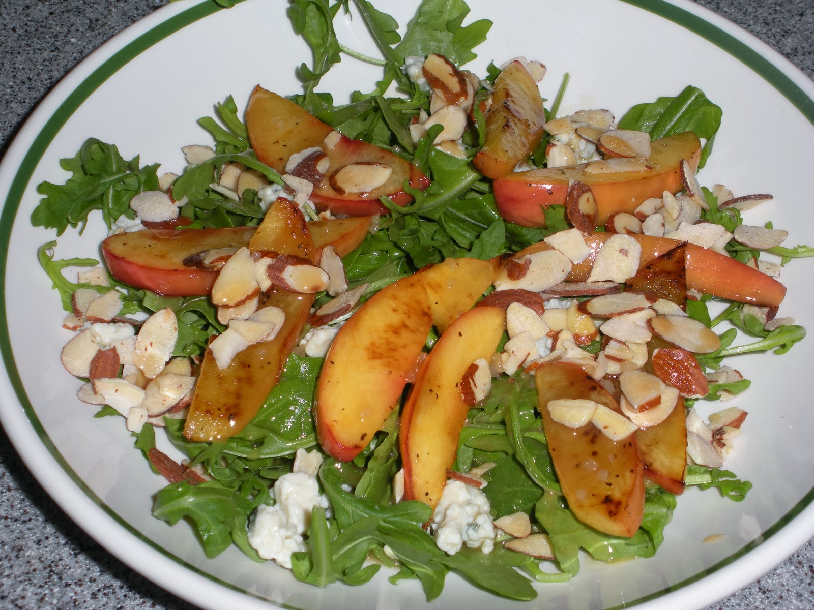 NOT A REAL HOUSEWIFE: Nectarine and Blue Cheese Salad