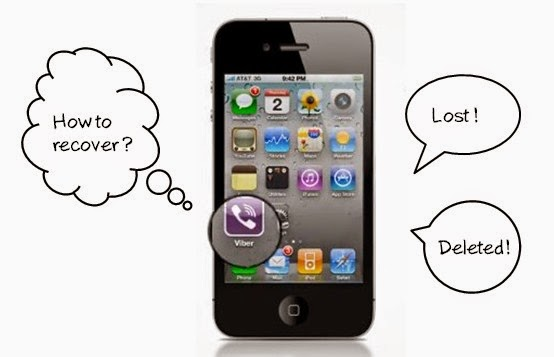 recover deleted lost Viber data from iPhone
