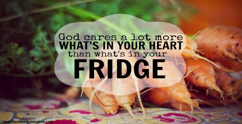 http://theelliotthomestead.com/2014/01/god-cares-a-lot-more-whats-in-your-heart-than-whats-in-your-fridge/