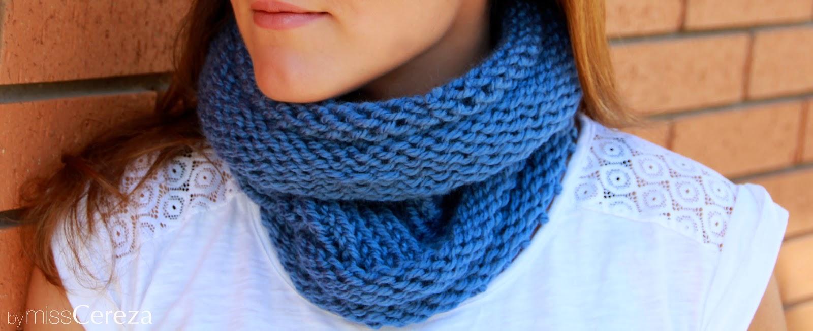 bufanda cuello azul