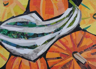 Fall Squash by collage artist Megan Coyle