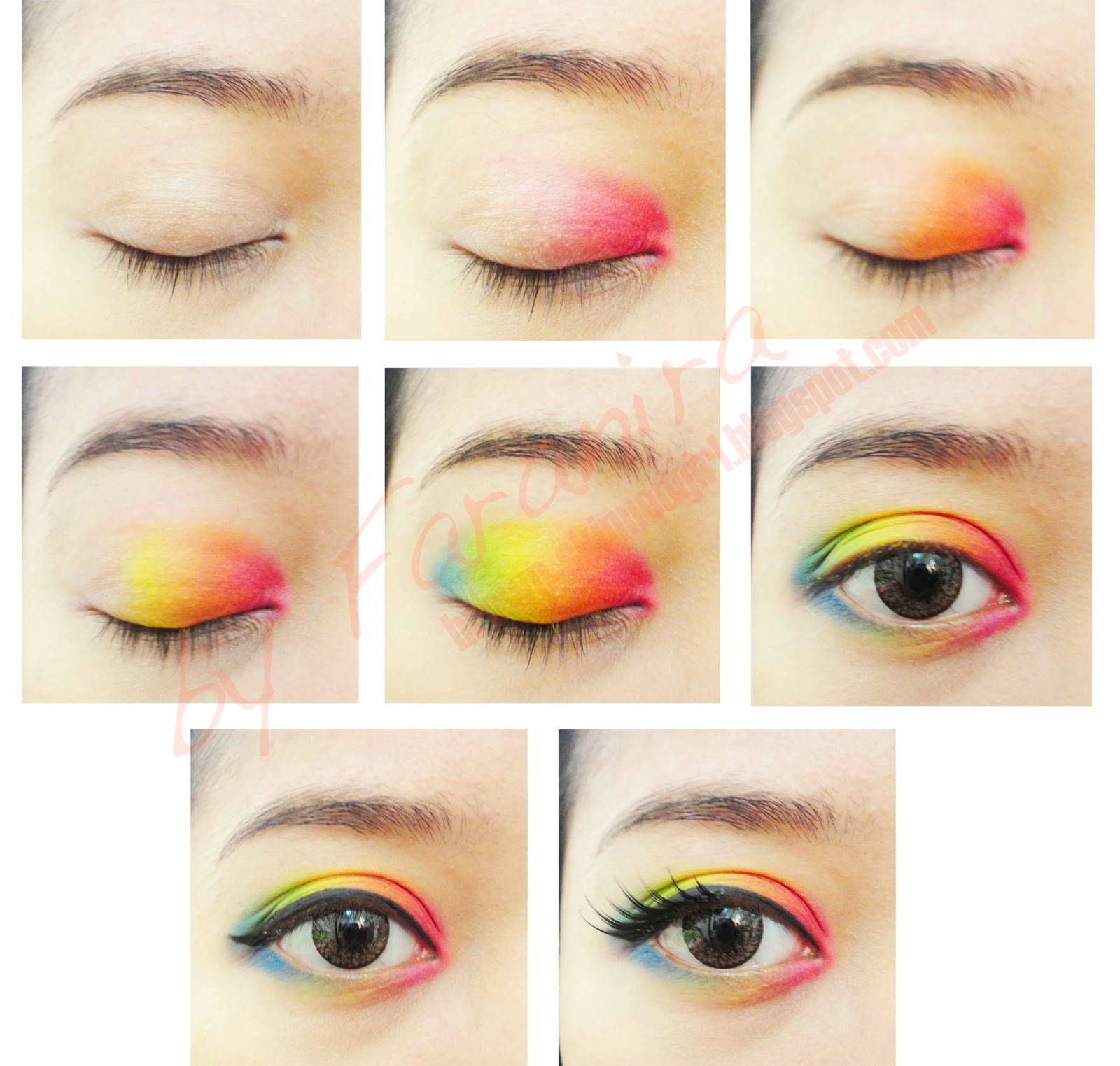 Dark Rainbow Makeup
