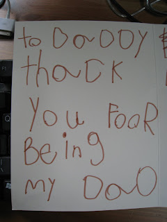 To Daddy - thack you foor being my Dad