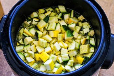 squash in pressure cooker - Zucchini and Yellow Squash Soup with Rosemary and Parmesan (Pressure Cooker or Stovetop) found on KalynsKitchen.com