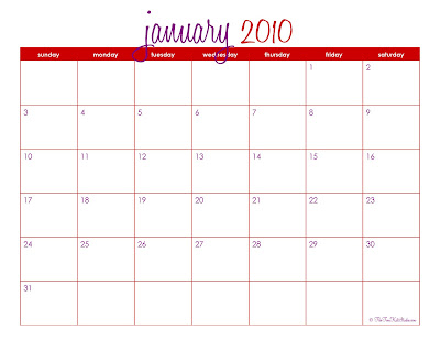 , by designing the ENTIRE year of 2010 printable monthly calendars