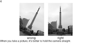 Совет 4. Когда снимаете вертикальные предметы, следите за положением вашего фотоаппарата