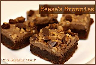 Reeses Brownies by Six Sisters' Stuff.