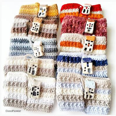 crochet cozy mug housse de tasse par cocoflower - www.cocoflower.net