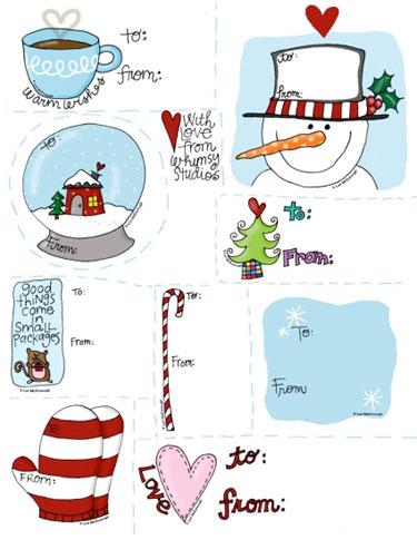 tarjetitas personales de navidad para los regalitos