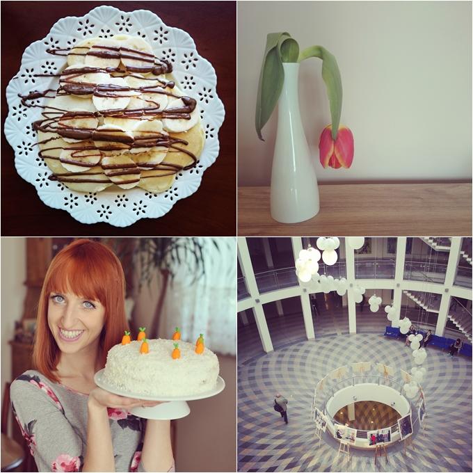 tort, marchewkowy, pancakes, czekolada, banany, tulipan, ug, wns
