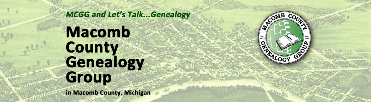 MCGG and Let's Talk...Genealogy