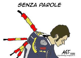 Valentino Rossi, MotoGP, piloti spagnoli, satira, vignetta