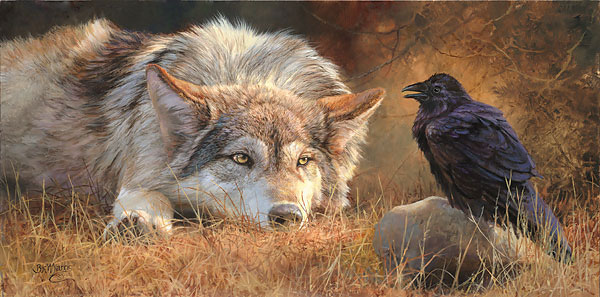 wolf and crow relationship